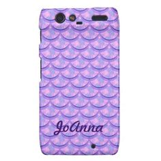 Lavender, Pink, & Blue patterned smart phone cases! Customize your name too. #zazzle #smartphone #pattern