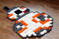 """34"""" x 24"""" Star Wars BB-8 8 Bit Pixel Art Rug, Couch Cover, Mat, Blanket, Granny Square by TheStitchQueen on Etsy"""
