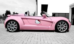 Hello Kitty pink car