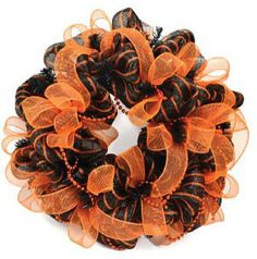 Mesh Wreath Idea for Halloween