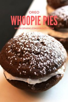 A whoopie pie that tastes like an Oreo...I'm in!!  Trust me these are SOOOOO Good!! . #whoopiepies #oreo #dessert #sparklesnsprouts