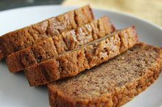Delicious as it Looks: Lower-Fructose Banana Bread Low-FODMAP- used bobs red mill 1 to 1 gf flour and earth balance vegan butter and baked for 45 min Fodmap Diet, Low Fodmap, Fodmap Foods, Keto Foods, Low Carb, Keto Meal, Fodmap Recipes, Gluten Free Recipes, Diet Recipes
