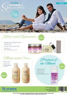 Norwex Australia October customer specials. Get your skin summer ready with these great savings!