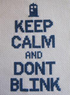 Keep Calm and Dont Blink /// cross stitch pattern door oregonstream