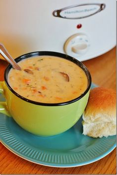 {Slow Cooker} Turkey and Wild Rice Soup.  You should probably make this ASAP....it is AMAZING!