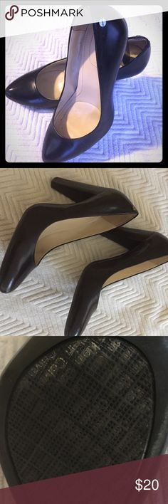 Calvin Klein Black Pumps Strong thick heel, shows little to no wear, professional, pairs well with jeans and a blazer. Calvin Klein Shoes Heels