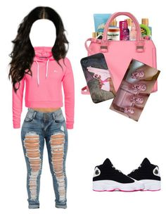 """Air Jordan 13s"" by queen-celimar ❤ liked on Polyvore featuring Only Play and Retrò"
