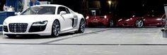 Audi R8 & Ferrari x2