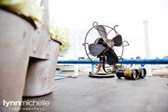 nautical chic, rustic, vintage fan, binoculars.