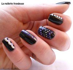 #black #dots #nail #nails #nailart #lapaillettefrondeuse