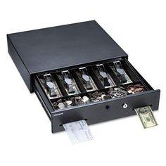 MMF Industries 225106001 Large Manual Alarm Alert Cash Drawer Black for sale online Kids Grocery Store, Deadbolt Lock, Bell Sound, Cash Box, Secure Storage, Metal Models, Drawers, Buttons, Living Room