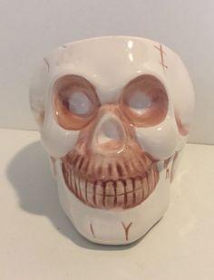 Halloween Candy Dish Skull Bones Anatomy Decoration Mug Scary Fun Party Bowl Dip  | eBay
