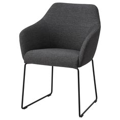 IKEA - TOSSBERG, Chair, metal black, grey, The upholstered seat and comfortable angle of the backrest make the chair perfect for long dinners. The chair is extra comfortable because it has armrests and a rounded back. Pink Sofa, Grey Chair, Sofa Chair, Upholstered Chairs, Swivel Chair, Chaise Ikea, Ikea Usa, Ikea Family, Big Sofas