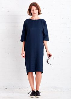 Aurora Dress Deep Blue by Cus | Gather&See