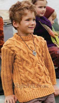 Свитер с аранами для мальчика