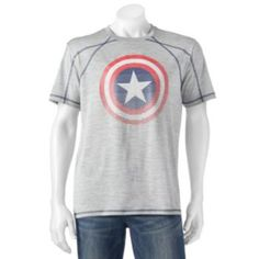 2c7dda449c Men s+Marvel+Captain+America+Shiny+Shield+Tee Captain America Shield