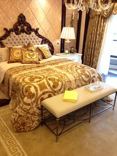 Zhong Kai Versace Master Bedroom in Shanghai Bedroom Designs Images, Bedroom Images, Versace Furniture, Sofa Furniture, Home Design, Interior Design, Design Hotel, Home Bedroom, Bedroom Decor