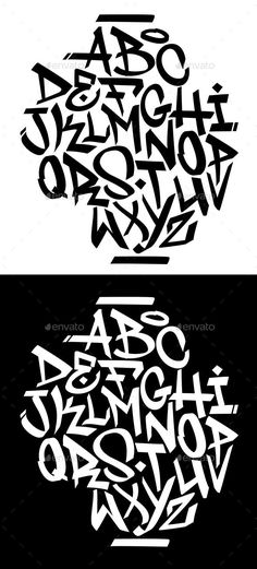 Buy Handwritten Graffiti Font Alphabet by on GraphicRiver. Chisel tip handwritten graffiti font alphabet. Grafitti Letters, Graffiti Lettering Alphabet, Tattoo Fonts Alphabet, Graffiti Words, Graffiti Writing, Banksy Graffiti, Tattoo Lettering Fonts, Graffiti Artwork, Graffiti Tagging