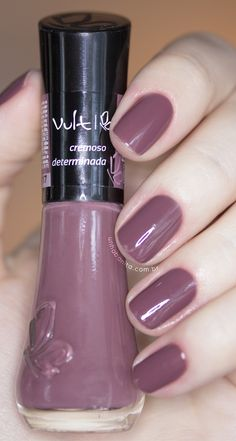 Determinada - vult unhas ногти, нейл-арт и маникюр. Purple Manicure, Mauve Nails, Clean Nails, Super Nails, Artificial Nails, Nail Polish Colors, Nail Arts, Natural Nails, Toe Nails