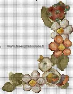 With gufo thun. Cross Stitch Letters, Beaded Cross Stitch, Cross Stitch Baby, Cat Cross Stitches, Cross Stitching, Minecraft Beads, Hello Kitty Wallpaper, Bead Loom Patterns, Funny Tattoos