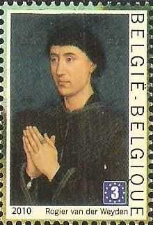 belgian stamps France-Belgium Joint issue : The Flemish Primitives. Portrait of Laurent Froimont - Rogier van der Weyde