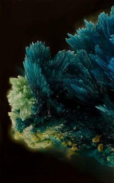 Gilmarite crystals, El Guanaco Mine, Antofagasta Region, Chile