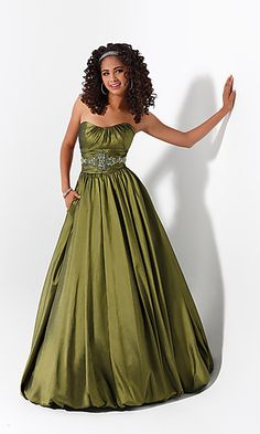 Flirt Strapless A-line Gown at PromGirl.com charcoal