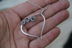 Rose bud sterling silver or copper necklace by Keepandcherish