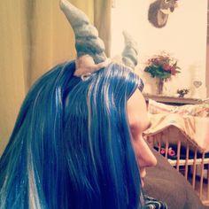 Demon silver #manga #illustratie #boeken #tekening #manuscript #cosplay #demonic #horns #ice #waterprins #blauw #wig #blue #demon #tail #devil