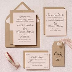 Wedding invitations -- I like the combo of script and type.