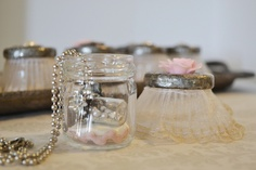 Mini solder jar perfect to store a Message in a bottle Charm.  May 2012