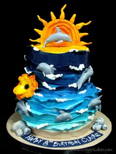 dolphin cake | Dolphin Tale Cake – and my consult with an 8 year old. | Tales from ...