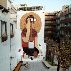 Agostino Iacurci New Mural In Zaragozza, Spain