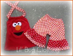 Grace's outfit to see Elmo:)) From lilbugsclothing @ etsy!