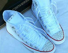 Bridal Converse-Hochzeit Converse Bling & von DivineUnlimited