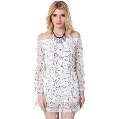 Sexy Off Shoulder Sequin Tassel Summer Dress 2017 Beach Party Slash Neck Short Dress Women Backless