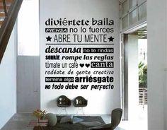 vinilos decorativos para pared mandanos tu frase! + regalo