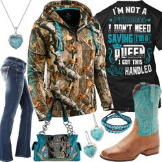 I'm Not A Princess Camo Half Zip Hoodie Outfit - Real Country Ladies