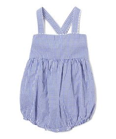This Blue Gingham Bubble Romper - Infant & Toddler is perfect! #zulilyfinds