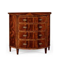 Jonathan Charles Fine Furniture Buckingham Demilune 4 Drawer Accent Chest | Perigold