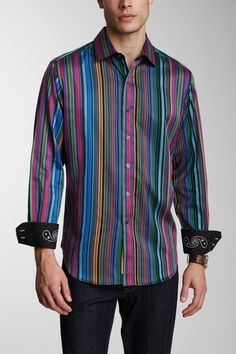 Robert Graham Gasket Striped Shirt this is so matt
