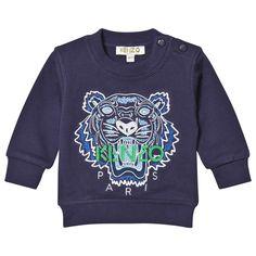 Kenzo Navy Tiger Embroidered Sweatshirt 49
