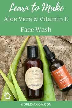 Finding a face wash that is not full of a bunch of extras that you have no idea what they are can be difficult. Now you can make your own natural aloe vera face wash with just 3 ingredients. It is fast, easy, and your face will thank you! Aloe Vera Hair Growth, Aloe Vera For Hair, Aloe Vera Gel, Aloe Vera Face Wash, Aloe On Face, Vitamin E Face Wash, Anti Aging, Natural Face Wash, Aloe Vera Vitamin