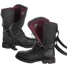 Xelement Women's Advanced Dual Strap Leather Boots With Vibram Soles 95