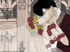 Color wedding... Mamoru and Usagi