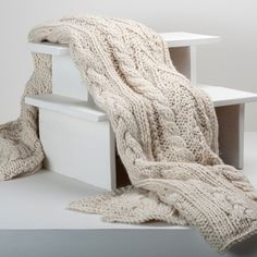 Share Berkshire Blanket with your friends and receive a promo code for 10% Off!  Hand Knit Chunky Throw #berkshireblanket