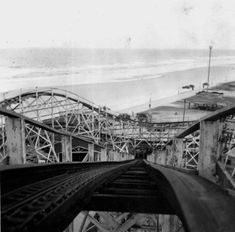 Looking down roller coaster at the beach - Jacksonville Beach, Florida Date Between 1930 and 1949 Collection Florida Photographic Collection Image Number Jacksonville Florida, Vintage Florida, Old Florida, Roller Coaster Ride, Roller Coasters, Atlantic Beach, The Good Old Days, Wonderful Places, History