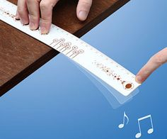 Practice your music skills while in class with the musical ruler. Apart from displaying inches and centimeters, this unique ruler also showcases musical notes - place your finger over the desired note and flick the end of the ruler to create beautiful sounds.