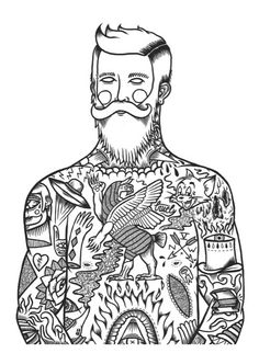 Jack Boulton's Black & White Tattoo Illustrations - mashKULTURE