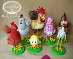 Gallos y gallinas .